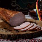 MUŞCHI FILE ŢĂRĂNESC: Mușchi de porc fiert si dublu afumat, aromatizat cu condimente naturale.